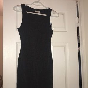 Fitted Gray Maxi dress